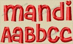 Mandi Embroidery Font 4 Sizes. $2.95, via Etsy.
