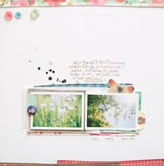 By Marcy Penner for Crate Paper.  Love the layering beneath the photos [and everything else!]