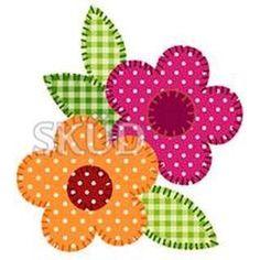 Resultado de imagen de riscos e moldes de flores para patchcolagem