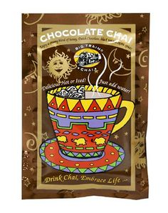 """Products I love "" from Raena -- big train chocolate chai"