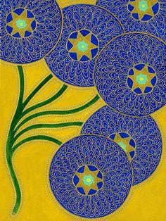 Image of Blue Dahlias