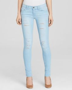 Flying Monkey Jeans - Distressed Skinny in Light Wash