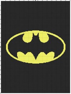 Batman Graph Chart Pattern  Afghan DOWNLOAD NOW by MadeEspecially, $3.75