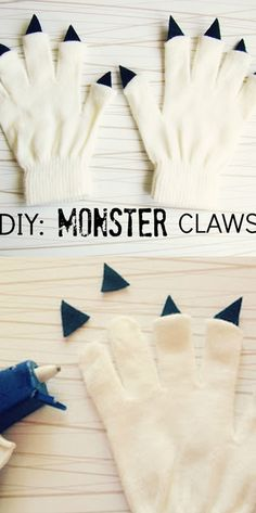 My kids would like this as a project they can wear  Gloves with claws