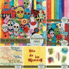 Dia de los Muertos Bundle- digital scrapbooking kit from Arizona Girl
