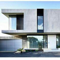 Epic Examples of Minimal Architecture Minimal Architecture, Modern Architecture House, Facade Architecture, Residential Architecture, Modern House Facades, Modern House Design, Villa Design, Facade Design, Modern Minimalist House