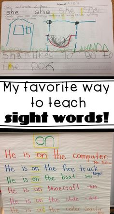 How do you teach your kindergarteners and 1st graders their sight words? This strategy incorporates reading sight words, writing sight words, and understanding sight words! Students get creative and make their own sight word sentences.