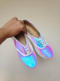 Iridescent Pony Oxfords vegan faux leather Handmade to order Soft Grunge, Neo Grunge, Pastel Grunge, Ballerinas, Cute Shoes, Me Too Shoes, Sneakers Shoes, Shoe Boots, Ankle Boots