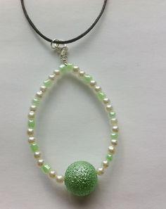 Mint Tear Drop Necklace £7.00