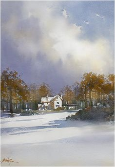 """home"" thomas w schaller, watercolor"
