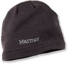 Marmot beanie provides lightweight warmth for all-day comfort.