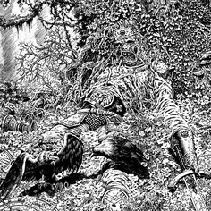 """670 Me gusta, 8 comentarios - Tim Vigil: Official IG Account (@timbvigil) en Instagram: """"""""Forest King"""" detail. Did this one many years ago. The devil is in the details. #drawing…"""""""