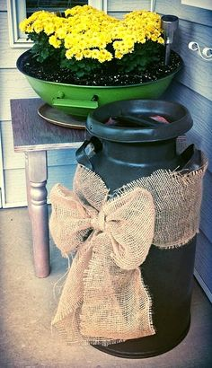 Home on Walnut Street: Old Milk Can - For Fall