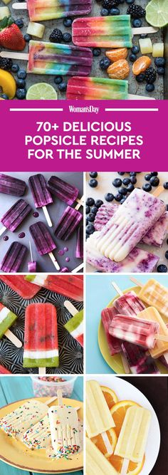 70+ Homemade Popsicle Recipes - How to Make Easy Popsicles