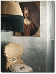 Ethereal Beauty' house featured in ELLE Decoration February 2013. Photograph by Fabrizio Cicconi. Italian Painted Furniture, Hand Painted Furniture, Plaster Stencils, Italian Style, Plaster Walls,Renaissance, Italian Decorating