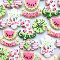 Precious Tips for Outdoor Gardens - Modern First Birthday Cookies, 1st Birthday Party For Girls, Little Girl Birthday, Baby Birthday, Birthday Party Themes, Birthday Ideas, Baby Shower Watermelon, Watermelon Birthday Parties, Watermelon Cookies