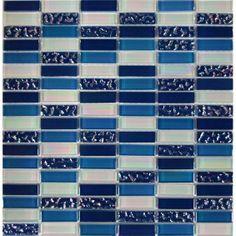 Mosaikmatte Glas Ocean Relief 30 cm x 30 cm im OBI Online-Shop