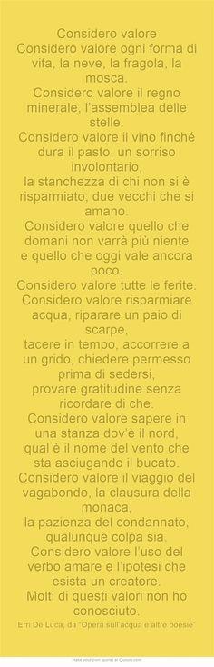 Erri De Luca - testo da confrontare con Cantico delle creature di san Francesco