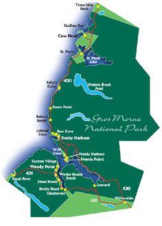 Gros Morne National Park Map