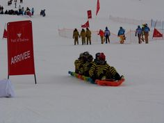 one of the entrants in the sledging competition