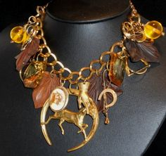 Looks for Less: The Statement Necklace, Equestrian Style   Upcycled Equestrian Necklace from VintageMaryEllen