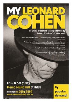 MY LEONARD COHEN Collectable Poster
