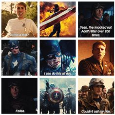 Captain America: The First Avenger---- just saw this for the time and looove it! Dc Movies, Marvel Movies, Good Movies, Films, Steven Grant Rogers, Steve Rogers, Captain America And Bucky, Captain Murica, Captain Rogers