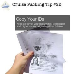 Take a photo of your travel documents and passport and other important papers so you have them in case something happens to your originals