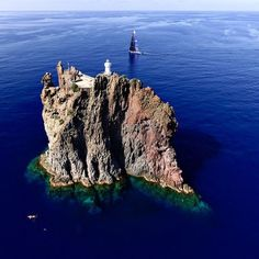 Mind-blowing shot of Strombolicchio Island, Italy! #island #italy #beautiful