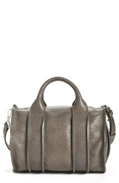 Alexander Wang 'Rocco - Inside Out' Leather Satchel | Nordstrom in Gunpowder (silver studs on bottom)