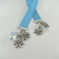 Ribbon Bookmark Snowflakes and Ice by bohemians on Etsy, $9.00
