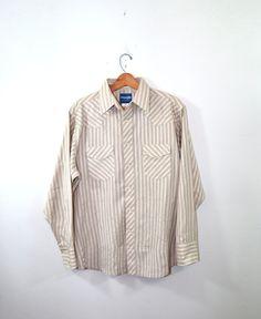 Vintage Western Shirt Plaid Shirt Pearl Snap by founditinatlanta