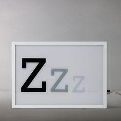 Buy John Lewis Zzz Small LED Light Box, White Online at johnlewis.com