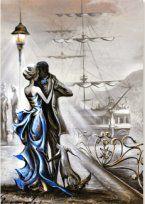 Romantic Paintings, Dance Paintings, Art Of Love, Dance Art, Egyptian Art, People Art, Colorful Drawings, Figure Painting, Creative Art