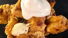Pumpkin Cream Cheese Chocolate Chip Bread Pudding Recipe from Carla Hall of The Chew