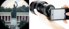 Imaginarium - Efeitos Fotográficos Caseiros | Tá precisando de um zoom potente, mas a sua câmera não tem? Use um binóculo ou luneta na frente da lente! Com isso você vai conseguir maior aproximação sem a perda qualidade original da foto, e ainda você ainda pode conseguir um efeito extra nas fotos com a borda arredondada e escura.