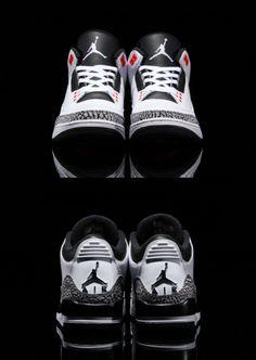 Air Jordan 3 - White Cement Infrared - Freshness Mag Jordan 3 White Cement 261257e12