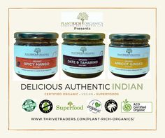 A range of great tasting Indian Superfood Chutneys Australian Wholesalers and Retailers wanted http://www.thrivetraders.com/plant-rich-organics/