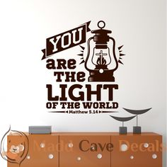 Matthew 5:14 - You Are The Light - Christian Wall Decal