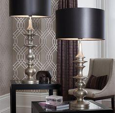 Heathfield Bilbao Table Lamps. Available at James Brindley, www.jamesbrindley.com.
