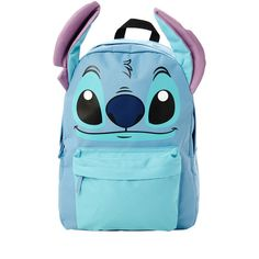 Disney Lilo & Stitch I Am Stitch Backpack | Hot Topic ($50) ❤ liked on Polyvore featuring bags, backpacks, disney, lilo and stitch, padded bag, day pack backpack, blue backpack, padded backpack and stitch bag