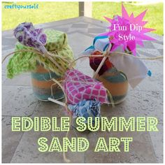 "Edible Summer Sand Art ""Fun Dip Style"" - Craft"