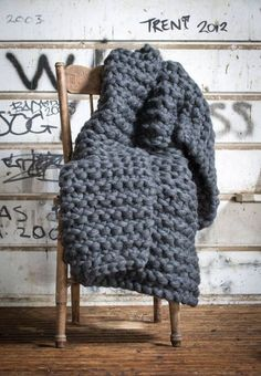Cush and Nooks: Chunky Knit Throws . . . can you say warm?
