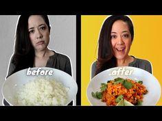 If Your Cauliflower Rice SUCKS...Here's How to Fix It! - YouTube Spanish Cauliflower Rice, Frozen Cauliflower Rice, Cauliflower Dishes, Keto Cauliflower, Rice Recipes, Side Dish Recipes, Keto Recipes, Healthy Recipes