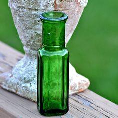vintage  emerald bottle...    L by CoolVintage on Etsy, $7.50