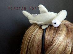 Plush Hammer Head Shark Headband, Kawaii Headband (3 shark option) Cosplay Headband, Shark fan, Costume Headband, Costume Hair Accessory