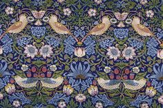 """The Strawberry Thief"" Morris and Co. Tiles from Textiles : William Morris Tile William Morris Wallpaper, William Morris Art, Morris Wallpapers, Motifs Textiles, Textile Patterns, Textile Design, Print Patterns, Floral Patterns, Papier Peint Art Nouveau"