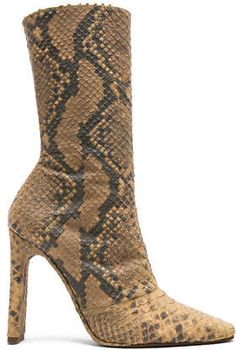 e359e33250234 YEEZY Season 6 Python Embossed Ankle Boots Python embossed leather upper  with leather sole Made in Italy Shaft measures approx 8 inches in height  Approx 4 ...