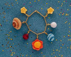 Crochet Charm Bracelet: You are my universe - Free Crochet Projects