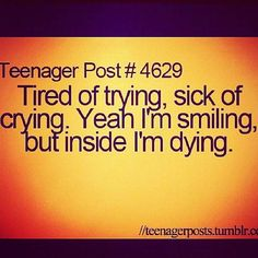 Sick Of Trying Tired Of Crying Quotes